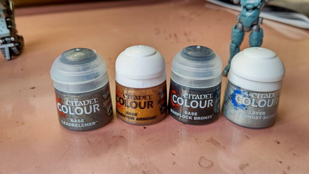 購入したシタデルカラーの塗料4本