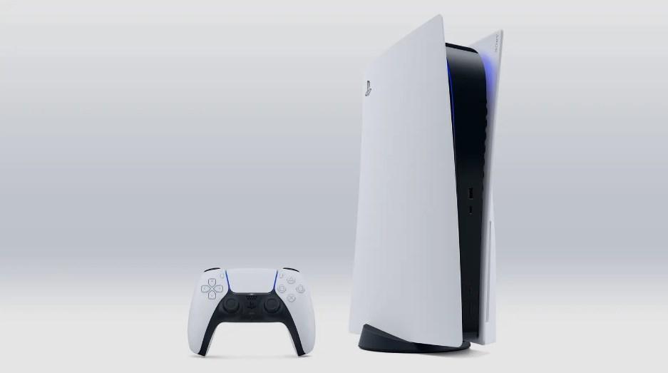 PS5の本体とコントローラー